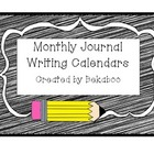 Journal Writing Calendars for 1st-3rd Grade