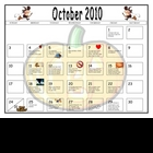 Journal Writing - October Calendar