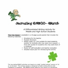 Journaling BINGO Differentiated Writing Lesson Plan FREE