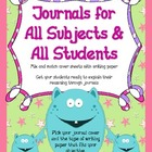 Journals for All: Mix and Match Journal Covers and Subject
