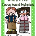 Journery's Grade One...What is a Pal?...Focus Wall