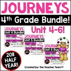 Journeys 4th Grade Unit 4-5-6 Half Year Bundle Supplementa