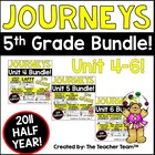 Journeys 5th Grade Unit 4-5-6 Half Year Bundle Supplementa