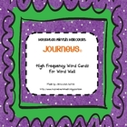 Journeys First Grade High Frequency Word Wall Cards - larg