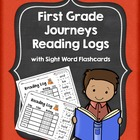 Journeys First Grade Reading Log with Sight Word Flash Cards