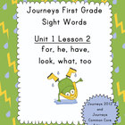 Journeys First Grade Sight Words: Unit 1 Lesson 2