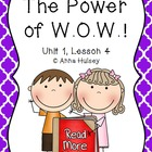 Journeys Fourth Grade: The Power of W.O.W.!