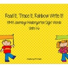 Journeys Kindergarten Sight Words: Read It, Trace It, Write It