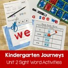 Journeys Kindergarten Sight Words: Unit 2