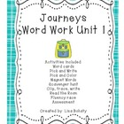 Journeys Kindergarten Unit 1 Word Work