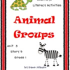 Journeys®  Literacy Activities - Animal Groups - Grade 1