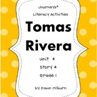 Journeys®  Literacy Activities - Tomas Rivera - Grade 1