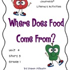 Journeys®  Literacy Activities - Where Does Food Come Fro