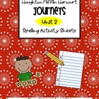 Journeys Unit 2 Spelling Activities