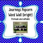 Journeys Kindergarten Word Wall-Popcorn Words-Bright Colors