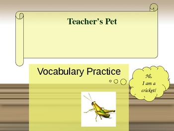 Journeys/Lesson Five/Teacher's Pet /powerpoint vocabulary-