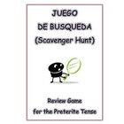Juego de Busqueda (Scavenger Hunt) - Review Game for the P