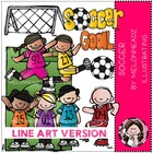 Julia's soccer LINE ART bundle by melonheadz