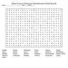 Julius Caesar Character Identification Word Search and KEY