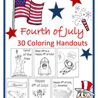 July 4th Coloring Handouts (15 Coloring Sheets)