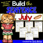 July Build the Sentence (NO PREP Printables)