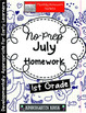 July Homework Packet: 1st Grade (Off to the Beach)