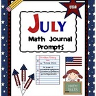 July Math Journal Prompts