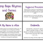 Jump Rope Chants and Games Task Cards