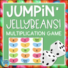 Jumpin' Jellybeans Multiplication Facts Dice Game