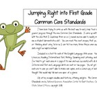 Jumping Right into the First Grade Common Core Standards