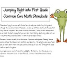 Jumping into the First Grade Common Core Math Standards