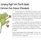 Jumping into the Fourth Grade Common Core Science Standards