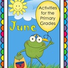 June Activities for Primary Grades - End of Year, Father's