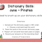 June Dictionary Skills - Pirates