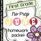 June Homework Packet: 1st Grade (Summer Sun Fun)