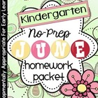 June Homework Packet:Kindergarten (Fun in the Sun)