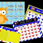 June & July Calendar for ActivBoard