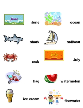 June & July Word Wall