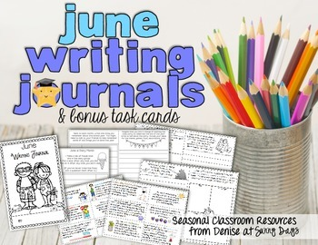 June Writing Journal {with task cards}