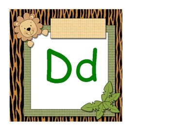 Jungle Alphabet Cards - 8x8