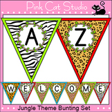 Jungle Theme Classroom  - Editable Bunting - Back to School Decor