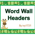 Jungle Babies Word Wall Headers