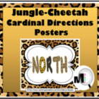 Jungle - Cheetah Cardinal Directions Posters