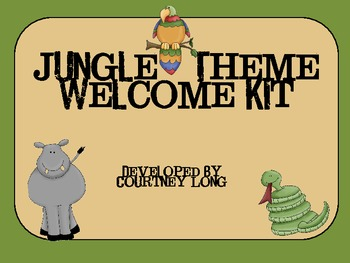 Jungle Classroom Welcome Kit