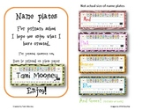 Jungle Color Name plates with free Alphabet Chart