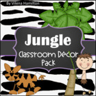 Jungle Classroom Decor Set