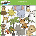 Jungle Doodles Clip Art