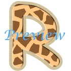 Jungle Giraffe Spots Alphabet Clip Art Set