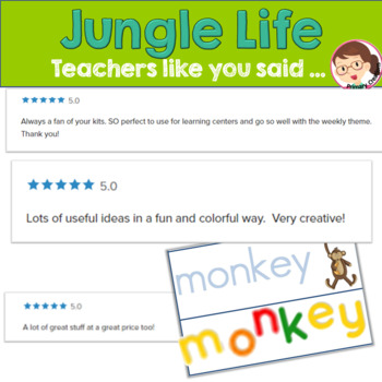 Jungle Life: PreKinder Unit