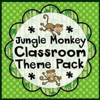 Jungle Monkey Classroom Materials Theme Pack